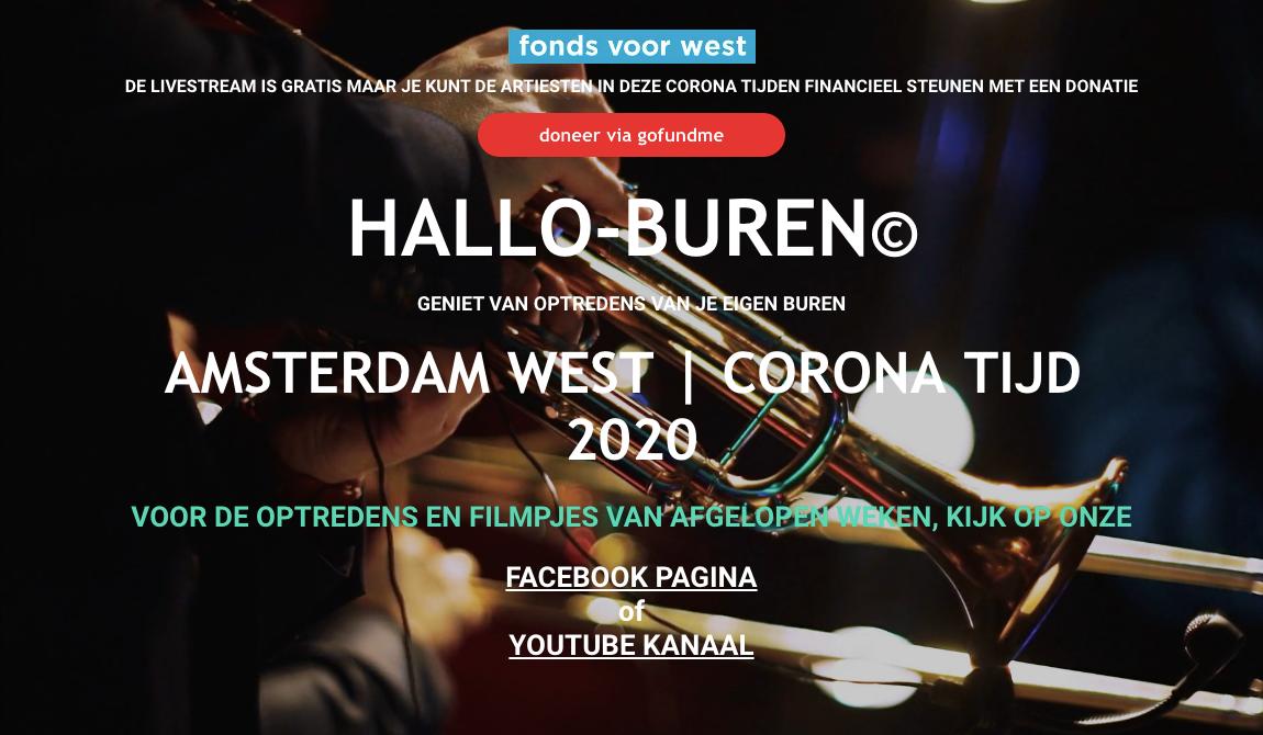 Live stream optredens voor Oud-West